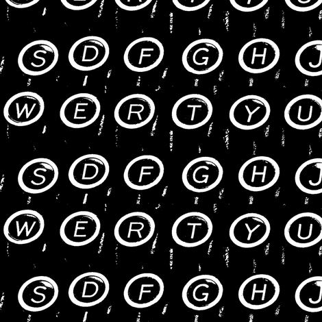 (Q)WERTY fabric by relative_of_otis on Spoonflower - custom fabric