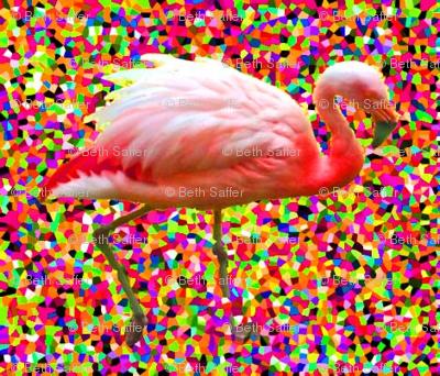 Confetti Flamingo