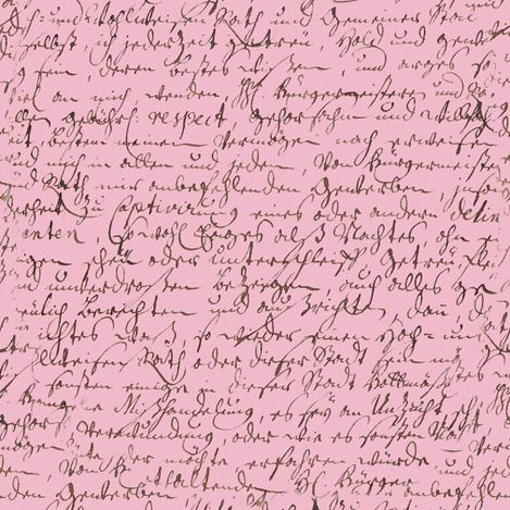 I Thought I'd Write To Juliet... Pink fabric by peacoquettedesigns on Spoonflower - custom fabric