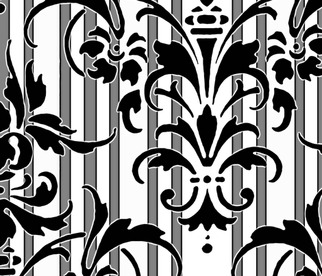 Damask ~ Susan fabric by peacoquettedesigns on Spoonflower - custom fabric