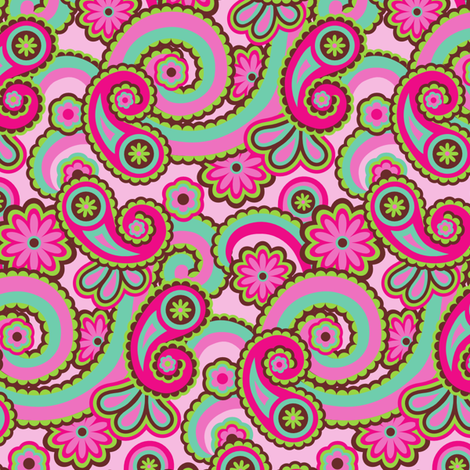 Paisley Fun fabric by wrapartist on Spoonflower - custom fabric