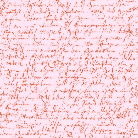 I Thought I'd Write To Juliet... Pink on Pink fabric by peacoquettedesigns on Spoonflower - custom fabric