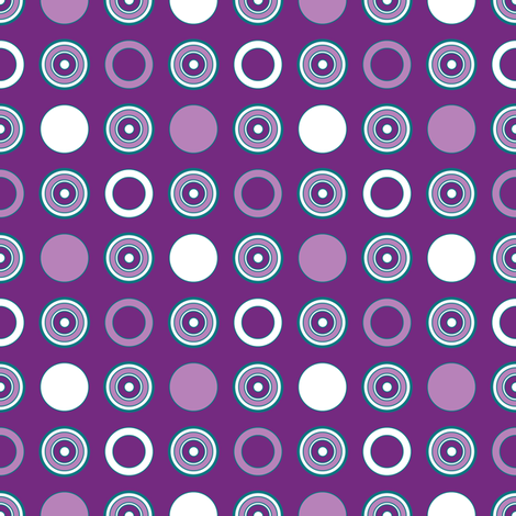Grape Dots & Hoops fabric by jjtrends on Spoonflower - custom fabric
