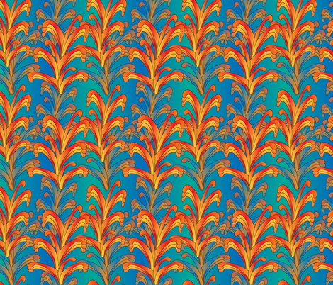 psychedelic swirls fabric by kociara on Spoonflower - custom fabric