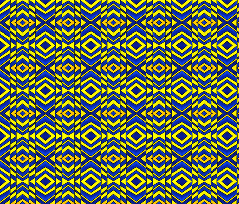 Blue and Yellow Chevron Pattern fabric by galleryhakon on Spoonflower - custom fabric