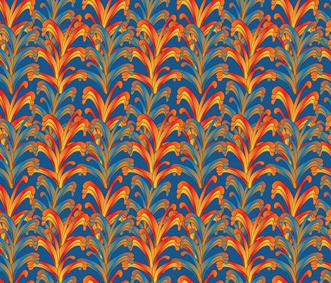 psychedelic Art Nouveau 3 fabric by kociara on Spoonflower - custom fabric