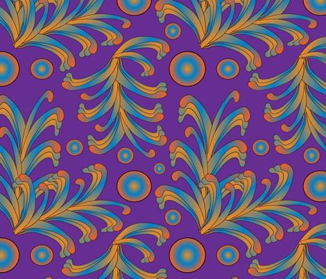 psychedelic Art Nouveau 4 fabric by kociara on Spoonflower - custom fabric