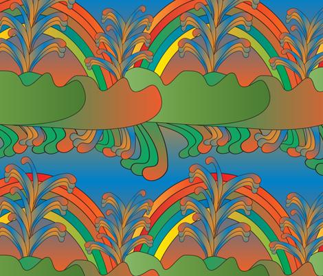 imaginary scenery 5 fabric by kociara on Spoonflower - custom fabric