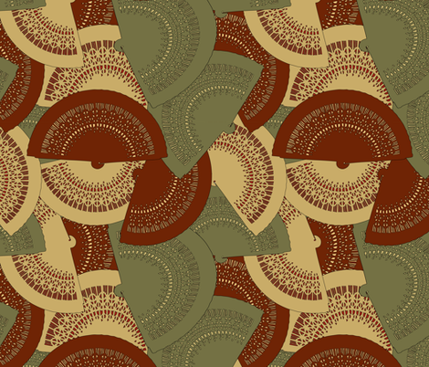 Spanish fans fabric by kociara on Spoonflower - custom fabric
