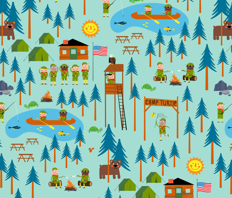 Camp Turtle USA fabric by edward_elementary on Spoonflower - custom fabric