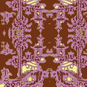 Escher pagoda lavender chocolate
