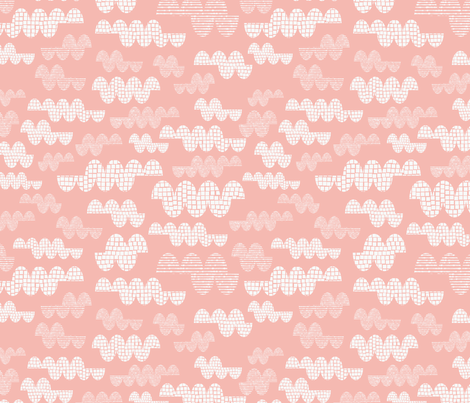 Big Clouds - Pink fabric by iheartlinen on Spoonflower - custom fabric