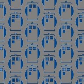 Blue Box on Grey