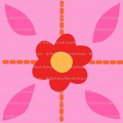 Zig Zag Pet Party flower grid 3