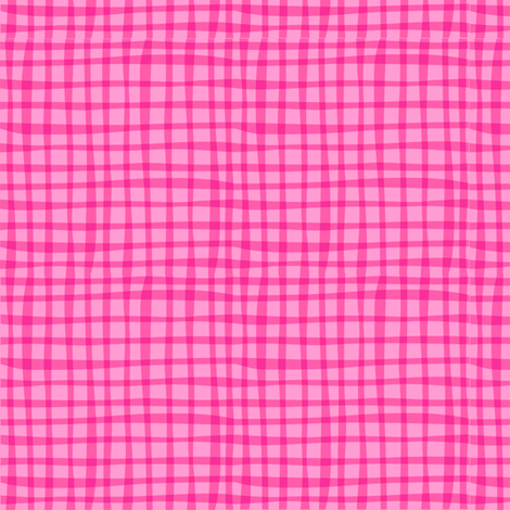 Zig Zag Pet Party pink gingham fabric by bzbdesigner on Spoonflower - custom fabric