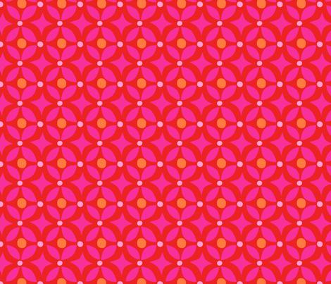 Zig Zag Pet Party pink star fabric by bzbdesigner on Spoonflower - custom fabric