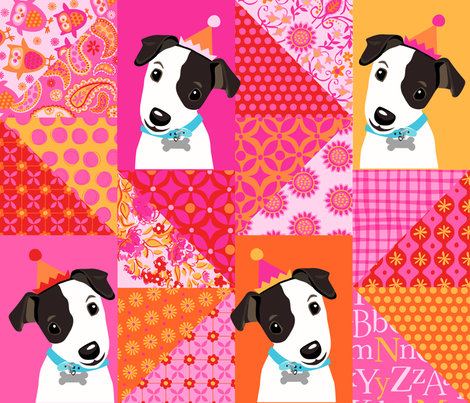 Zig Zag Puppy fabric by bethany@bzbdesigner_com on Spoonflower - custom fabric