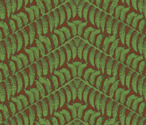 Earth Fern fabric by wiccked on Spoonflower - custom fabric