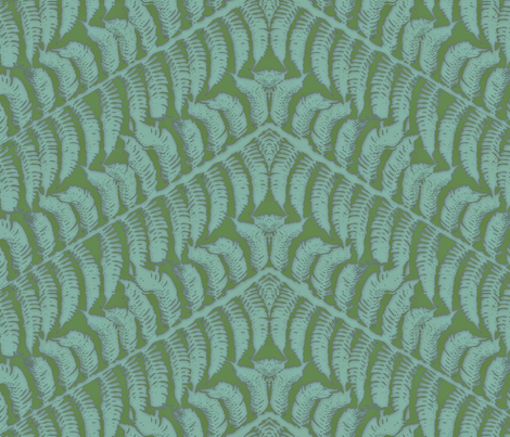 Iced Teal Fern fabric by wiccked on Spoonflower - custom fabric