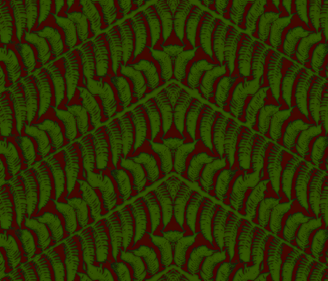 Red Fern fabric by wiccked on Spoonflower - custom fabric