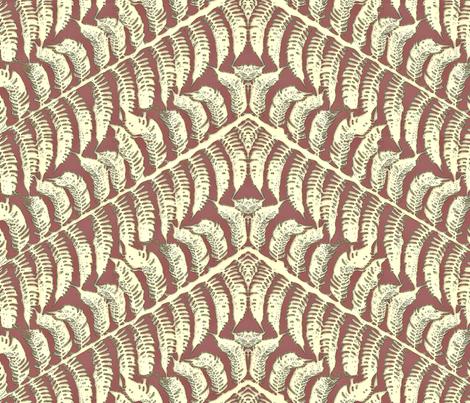 Skeleton Fern fabric by wiccked on Spoonflower - custom fabric