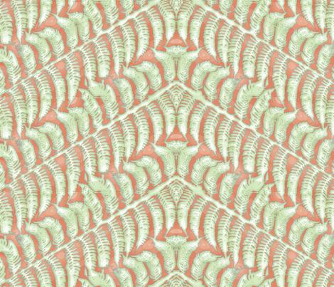 Tangerine Fern fabric by wiccked on Spoonflower - custom fabric
