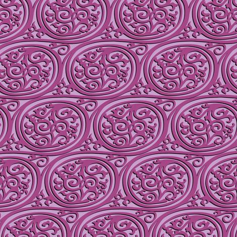 curlyswirl (pink) fabric by bippidiiboppidii on Spoonflower - custom fabric