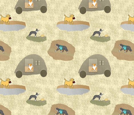 Campers best friend fabric by rusticcorgi on Spoonflower - custom fabric