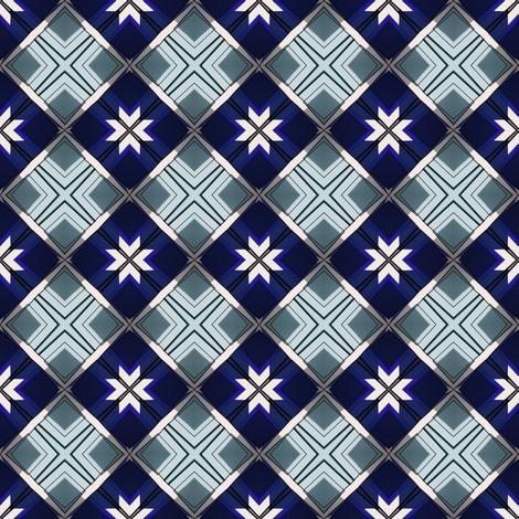 Wintry Squares fabric by galleryhakon on Spoonflower - custom fabric