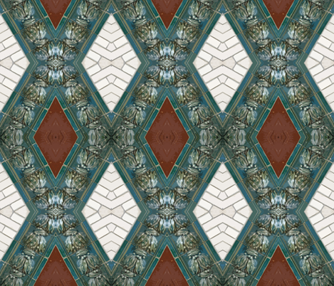 Art nouveau Wall 1 fabric by susaninparis on Spoonflower - custom fabric
