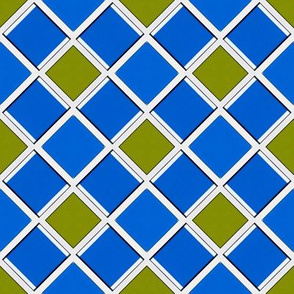 Blue and Olive Green Squares