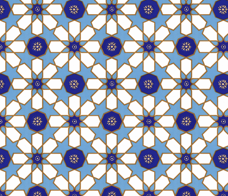 Tiles from Islamic Spain fabric by unseen_gallery_fabrics on Spoonflower - custom fabric