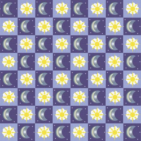Moon & Sun fabric by taramcgowan on Spoonflower - custom fabric