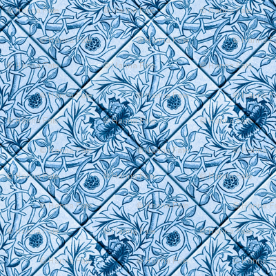 Delft Blue glazed tiles