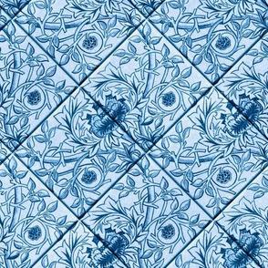 Delft Blue glazed tiles