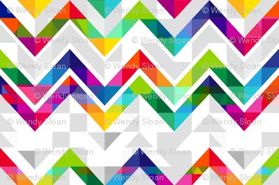 Rainbow geometric triangles with abstract chevron