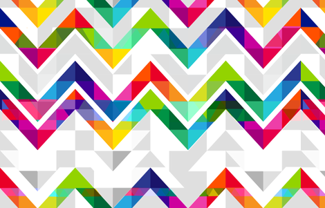 Rainbow geometric triangles with abstract chevron fabric by mainsail_studio on Spoonflower - custom fabric