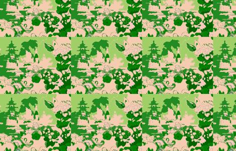 gardenfolly-emerald fabric by kerrysteele on Spoonflower - custom fabric