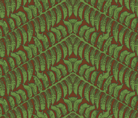 Terracotta Fern fabric by wiccked on Spoonflower - custom fabric