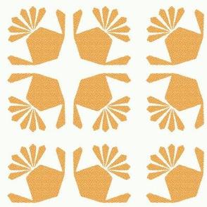 Fan Tail Orange Dot