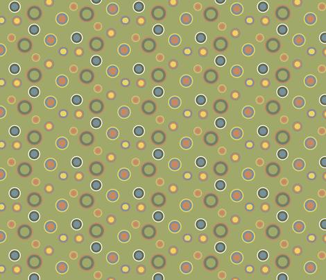 Faded Green Seventies Dots Pattern fabric by galleryhakon on Spoonflower - custom fabric
