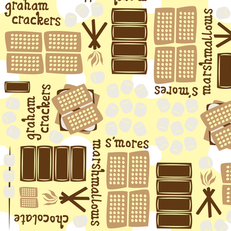 I Want S'mores! fabric by robyriker on Spoonflower - custom fabric