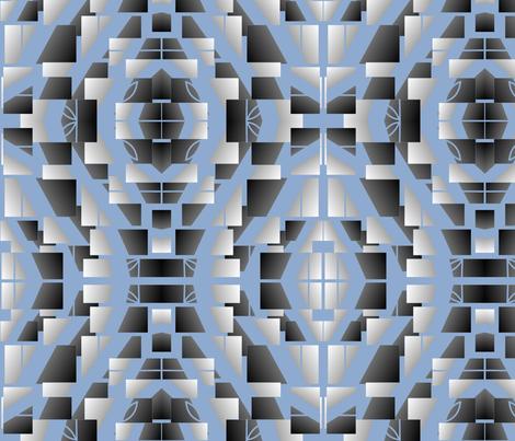 Silver_designer Lydia Falletti  fabric by artsylady on Spoonflower - custom fabric