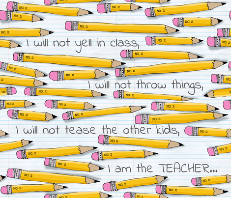 No. 2 Pencil fabric by bzbdesigner on Spoonflower - custom fabric