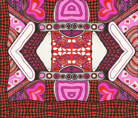Heart to Heart  Conversation fabric by joonmoon on Spoonflower - custom fabric