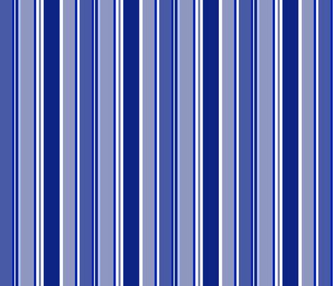 Underwater Love (Royal Blue stripe) fabric by delsie on Spoonflower - custom fabric