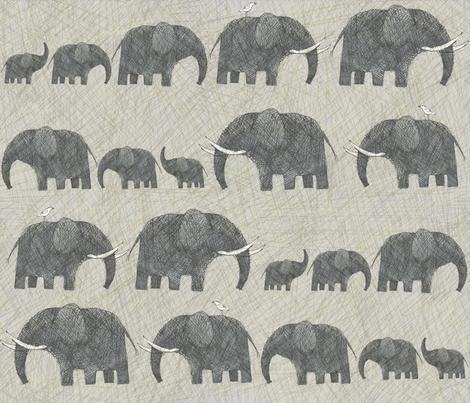 AMBOSELI  KENYA ELEPHANT PARADE fabric by bzbdesigner on Spoonflower - custom fabric