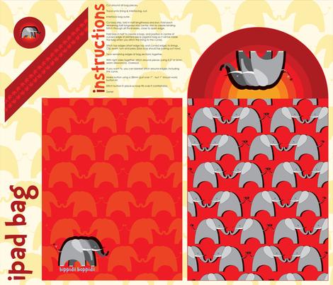 Elephant iPad/journal bag fabric by bippidiiboppidii on Spoonflower - custom fabric