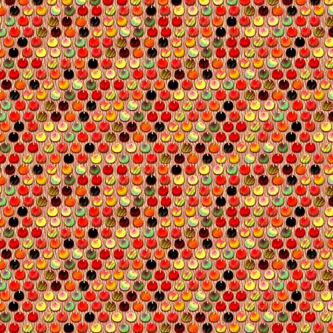 spangles mermaid cheery cherry fabric by glimmericks on Spoonflower - custom fabric