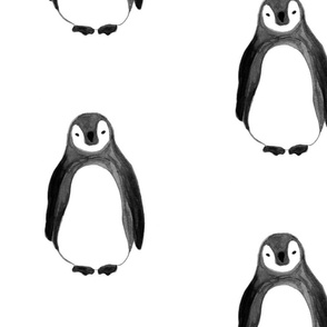 Extra Large Watercolor Penguin revised